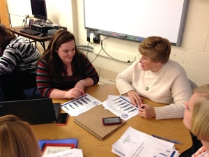 Discussing data in a Springfield PLC meeting