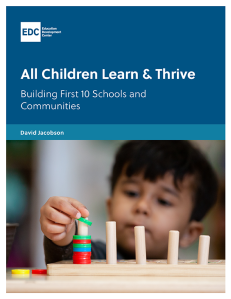 All Children Learn and Thrive_COVER